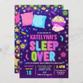 Sleepover Invitation Slumber Party Sleepover Party