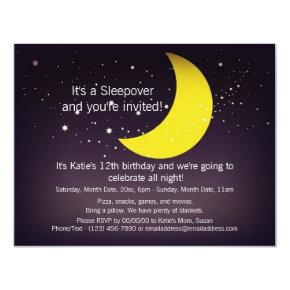 Sleepover Moon and Stars Invitations