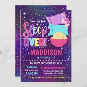 Sleepover Party Invitation Slumber Party