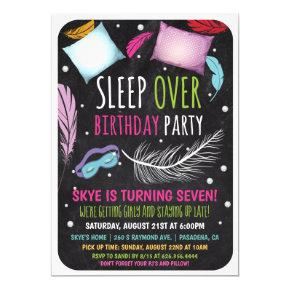 Sleepover Slumber Party Birthday Invitation