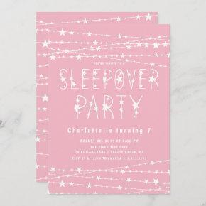 Sleepover Stars Birthday Party Invitation
