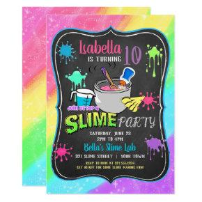 Slime Time Pastel Birthday Party Invitation