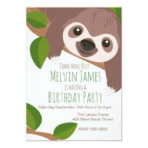 Sloth Party Invitations