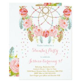 Slumber Party Birthday Invitations Sleepover Party