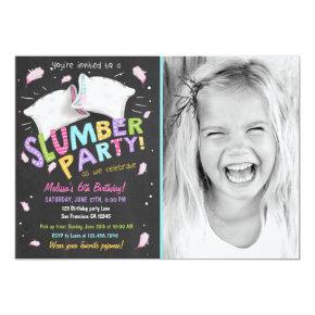 Slumber Party Pajamas Sleepover Invitations