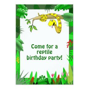 Reptile Party Birthday Invitations Candied Clouds