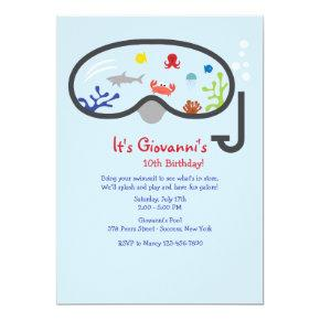 Snorkel Mask Children's Invitation