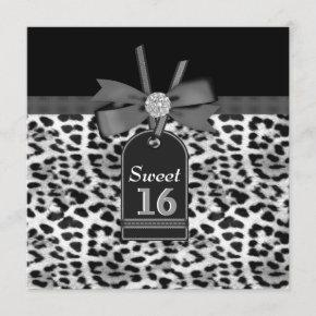 Snow Leopard Birthday Party Invitation