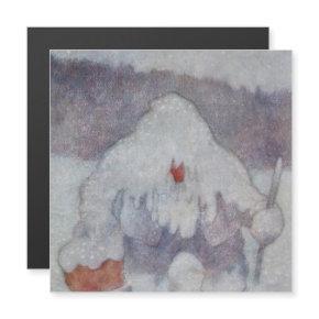 """Snow Troll"" by Theodor Kittelsen Magnetic Invitation"