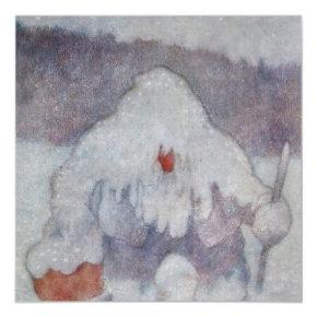 """Snow Troll"" by Theodor Kittelsen Magnetic Invitation"