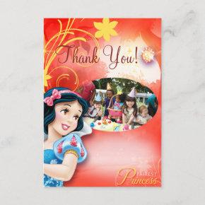 Snow White Birthday Thank You Invitations