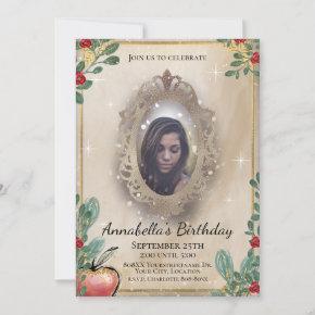 Snow White Fairy Tale Magic Mirror Photo Invitation