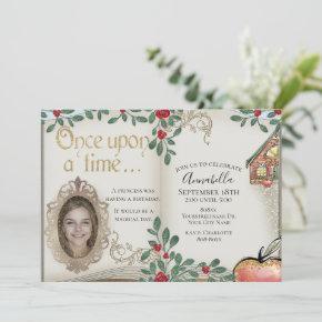 Snow White Magic Mirror Fairy Tale Invitation