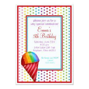 Snowcone and Polka Dots Birthday