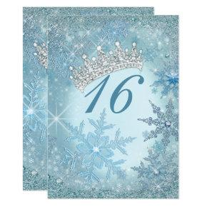 Snowflake Winter Wonderland Invitations