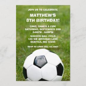 Soccer Ball and Grass Birthday Party