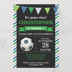 Soccer Birthday Invitation 1st Birthday Party
