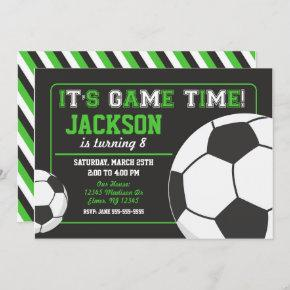 Soccer Birthday Invitation Chalkboard