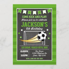 Soccer Birthday Invitation for Boys