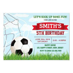 Soccer Birthday Invitation. Sport Invitation