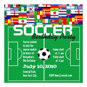 Soccer Birthday Party Invitation