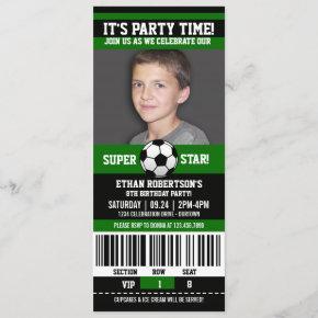 Soccer Birthday Photo Template
