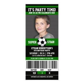 Soccer Birthday Photo Template