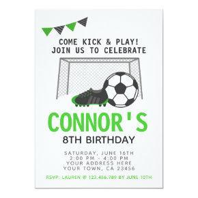 Soccer Invitation, Sport Birthday Party Invitation