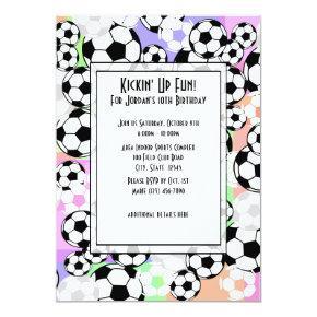 Soccer Mania/ Color Invitation