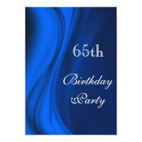 Soft Swirls Of Blue 65th Birthday Card