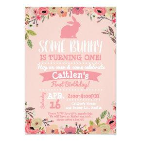 easter bunnies birthday party invitations candied clouds
