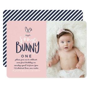SOME BUNNY BIRTHDAY PARTY INVITATION