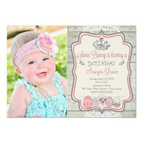 bunnies easter party birthday invitations candied clouds