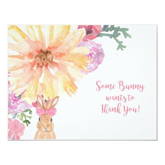 Somebunny Thank You Notes For Birthday Or Easter Invitations