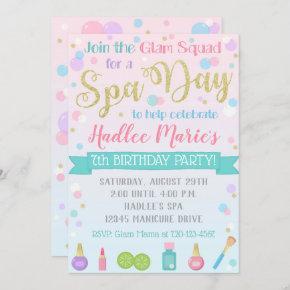 Spa Birthday Invitation Spa Party