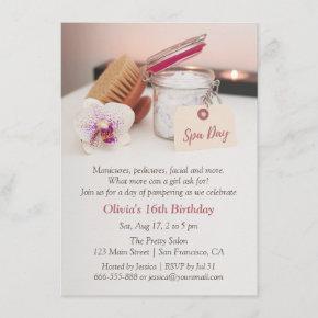 Spa Day Girls Birthday Party