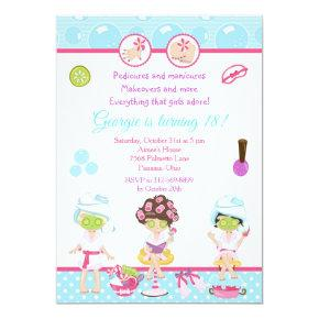 Spa Girls Pamper Birthday Party Invitation