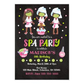 Spa Party Birthday Invitation