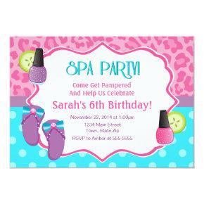 Spa Party Birthday Invitation Invitations