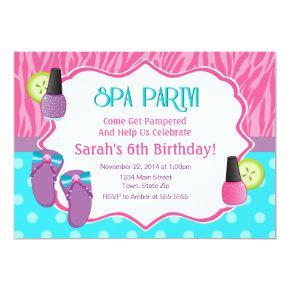 Spa Party Birthday Invitation