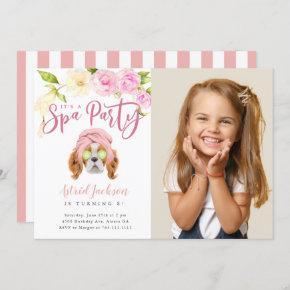 Spa Party Kids Birthday Photo Invitation