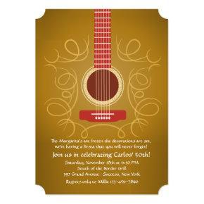 Spanish Guitar Invitation
