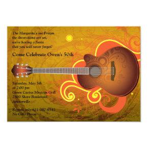Spanish Guitar Invitation