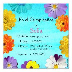 Spanish: Invitación de cumpleaños/ Birthday Invitation