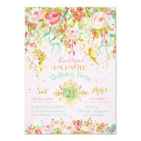 Sparkle Fairy Enchanted Garden Birthday Invitations