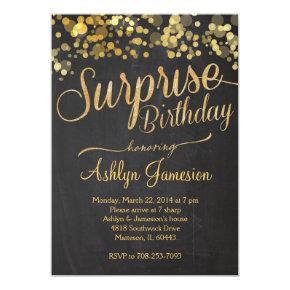 Sparkle Glitter Surprise Birthday Invitation