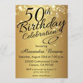 Sparkly Gold 50th Birthday