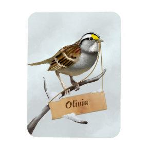 Sparrow Your Name Magnet
