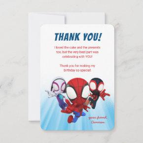 Spidey and His Amazing Friends Birthday Thank You Invitation