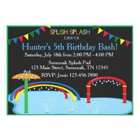 Splash Pad Birthday Inviation Invitation